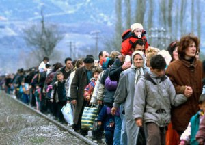 Kosovar refugees fleeing their homeland on 01 March 1999 UN Photo/UNHCR/R LeMoyne
