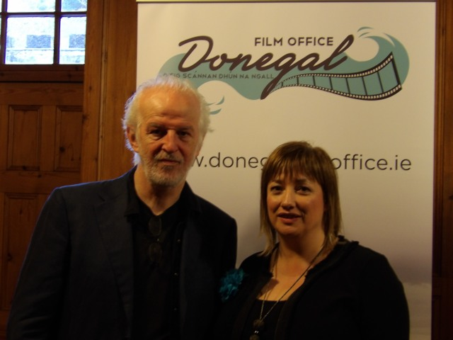 Sean McGinley with Aideen Doherty from Donegal Film Office