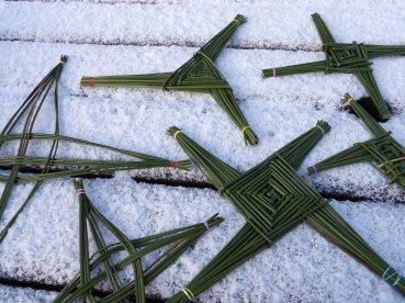 Brigid's crosses made by myself and my daughters. ©Siobhán McNamara